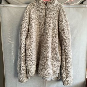 wubby fleece furry pullover jacket